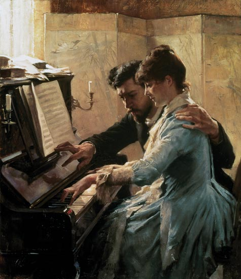 At the piano albert edelfelt for Www home piani foto