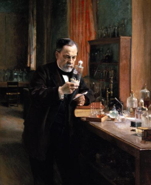 Louis Pasteur (1822-95) in his Laboratory