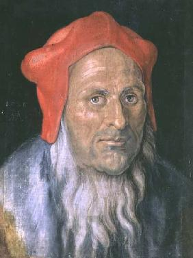 Portrait of a Bearded Man in a Red Hat