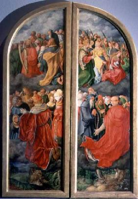 All Saints Day altarpiece, partial copy in the form of two side panels