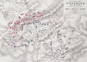 Battle of Waterloo, 18th June 1815, Sheet 2nd, Crisis of the Battle (engraving) (see also 101886)
