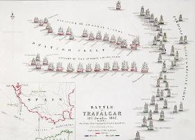 The Battle of Trafalgar, 21st October 1805, The British Breaking the French and Spanish Line, c.1830
