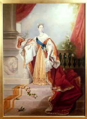 Portrait of Queen Victoria in Coronation Robes