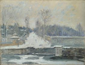 Sisley, Alfred : The Watering Place at Marl...