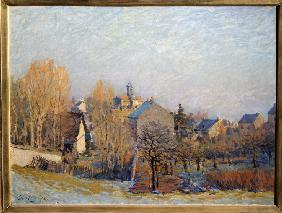 Sisley, Alfred : Frost in Louveciennes