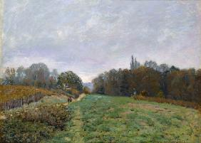 Sisley, Alfred : Landscape at Louveciennes