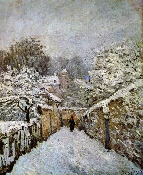 Sisley, Alfred : Snow in Louveciennes