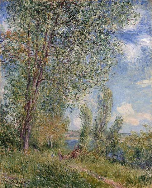 Sisley, Alfred : Blast of wind. May Morning