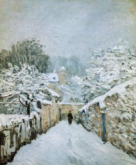Sisley, Alfred : l'hiver � Louveciennes.