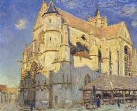 Sisley, Alfred : The Church at Moret, Frost...