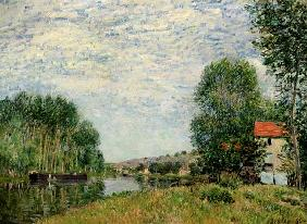 Sisley, Alfred : The Banks of the Loing at ...