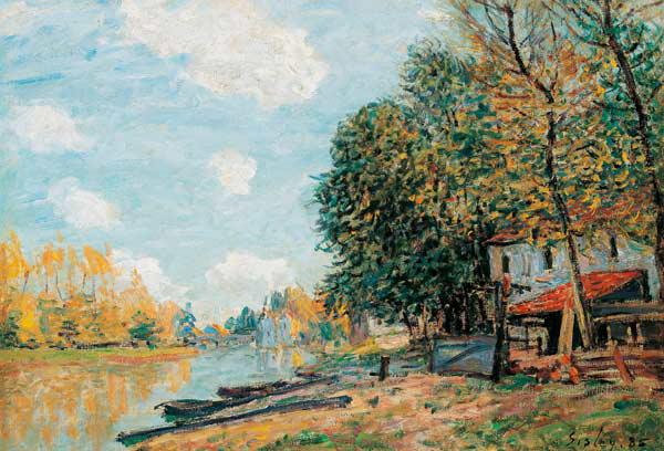 Sisley, Alfred : Moret. The Banks of the Ri...