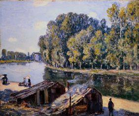 Sisley, Alfred : cabanes sur le Canal Loing...