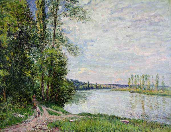 Sisley, Alfred : The Riverside Road from Ve...