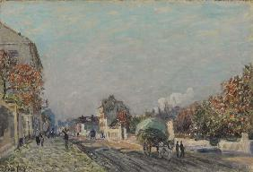 Sisley, Alfred : Une rue � Marly
