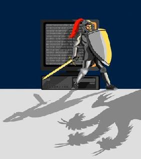 Knight protecting your computer