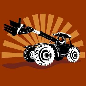 Tractor with telescopic arm