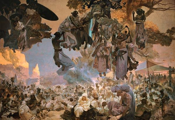 Svantovit Festival on the Island of Rugen,  from the ''Slav Epic''