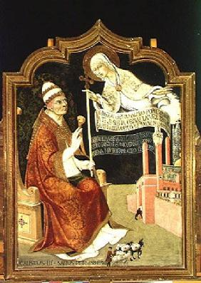 The Apparition of the Virgin to Pope Calixtus III (1378-1458)
