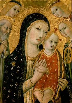 Madonna and Child with SS. Dominic and Catherine of Alexandria, 15th century