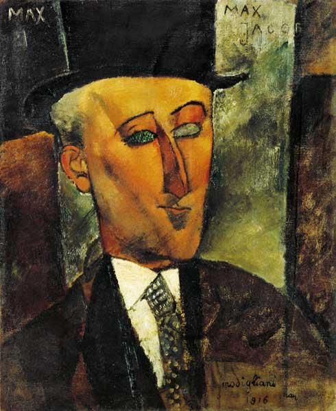 Titre de l'image : Amadeo Modigliani - portrait de Max Jacob.