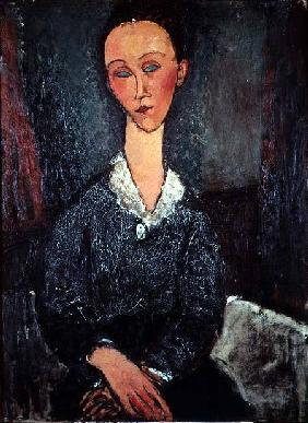 Portrait of a Woman with a White Collar