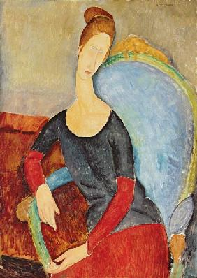 Mme Hebuterne in a Blue Chair