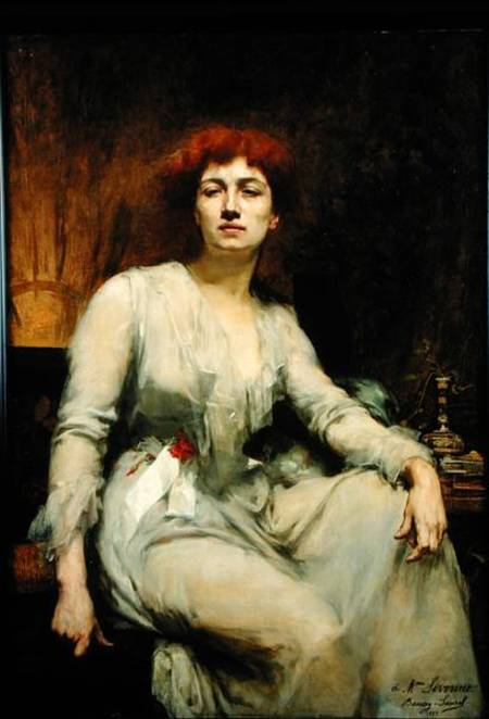 Amelie Beaury-Saurel - Portrait of Severine (1855-1929)