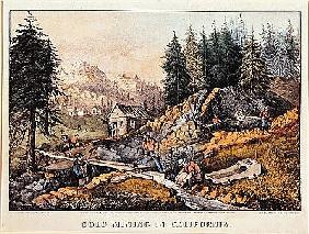 Gold Mining in California, published by  Currier & Ives