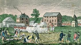 The Battle of Lexington, April 19th 1775, from ''Connecticut Historical Collections'', John Warner B