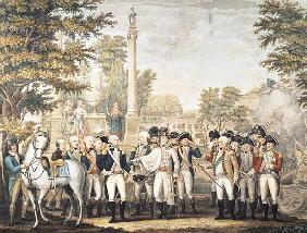 The British Surrendering to General Washington after their Defeat at Yorktown, Virginia, October 178