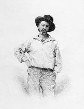 Walt Whitman, frontispiece to ''Leaves of Grass''