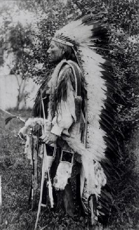 White Wolf, a Comanche Chief, c.1891-98 (b/w photo)