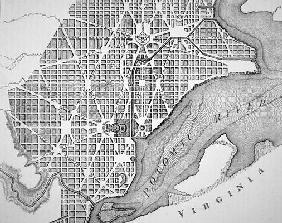 Plan of the City of Washington as originally laid out in 1793 (engraving)