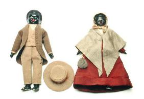 African American Quaker Dolls, c.1840 (mixed media)