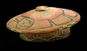 Basketry Cap, before 1849 (plant fibre)