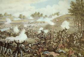 Battle of First Bull Run, 1861 (litho)