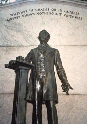 Memorial for Wendell Phillips (1811-84) 'Prophet of Liberty' (bronze)