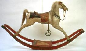 Rocking horse (wood & leather)