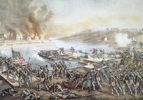 The Battle of Fredericksburg, 13th December 1862 (litho)