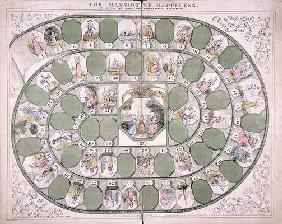 'The Mansion of Happiness' boardgame (colour litho)