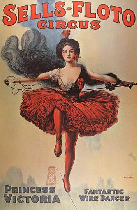 Poster advertising the 'Sells-Floto Circus'