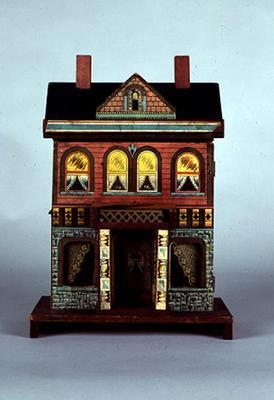 A Small R. Bliss multicoloured lithographed doll's house, c.1920 (mixed media on wood)