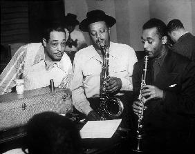 Duke Ellington with Ben Webster and Jimmy Hamilton at Carnegie Hall