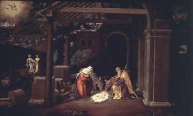 The Nativity and the Annunciation to the Shepherds