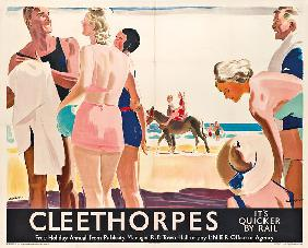 A poster advertising travel to Cleethorpes by London and North Eastern Railway