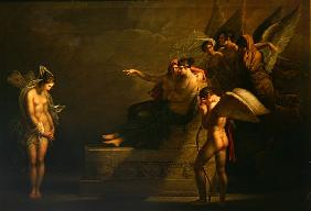 Scene from the legend of Amour and Psyche