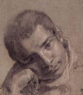 Head of a Youth (charcoal and white chalk)