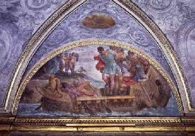 Lunette depicting Ulysses and the Sirens, from the 'Camerino'