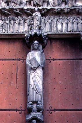 Christ in Majestyfigure on the south door